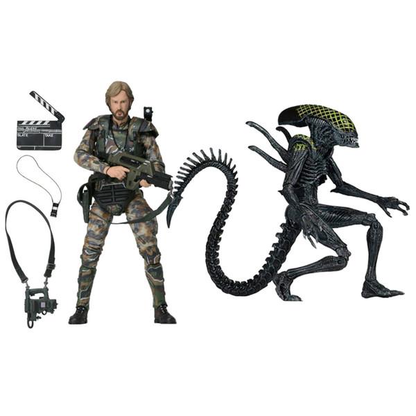 "wholesale Alien vs Predator 30TH Ann Colonel Director James Cameron 7"" EXCLUSIVE Figure Collectible Model toy children gift"