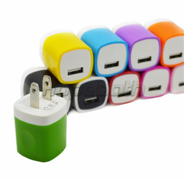 Factory price 5V 1A US Ac home wall charger power adapter for samsung note 2 3 4 for iphone 6 7 plus mp3 gps