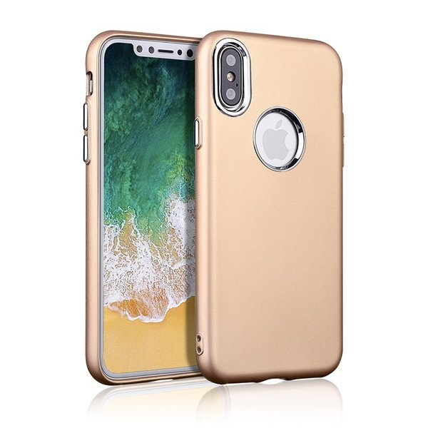 For Iphone XS Max XR Samsung Galaxy Note 9 J3 J7 2018 S9 Rubber TPU Cell Phone Cases With Electroplating Metal Buttons Covers