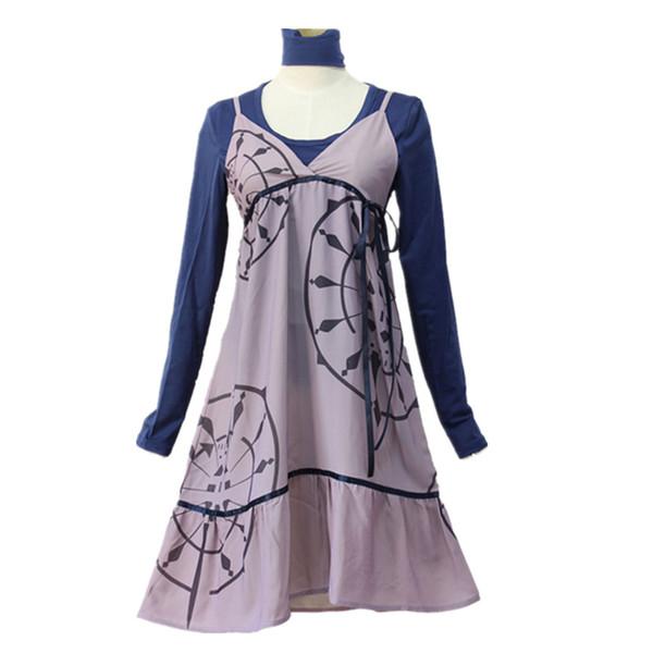 P5 Persona 5 Cosplay Mifune Chihaya Costume Dresses School Uniform Halloween Carnival Outfit (Dress & T shirt & Headwear)
