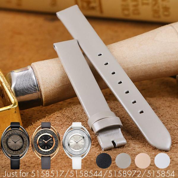 12MM echtes Lederarmband für SWA Frauen-Dame-Uhr-Bügel-Frauen-Gurt-Handgelenk-Zusatz-Armband-Haken-Rosa-Grau 5158548
