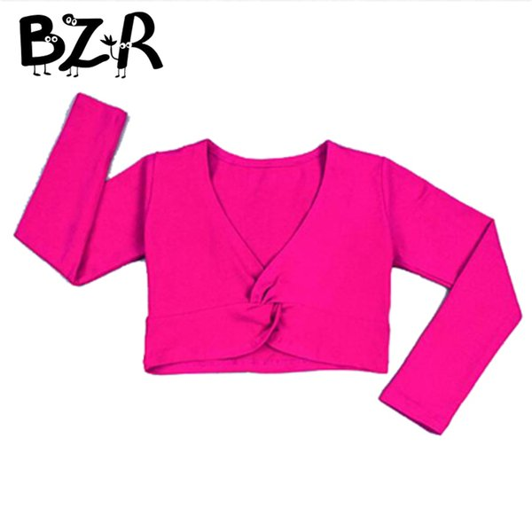 best selling Bazzery New 2018 Girl Ballet Gymnastic Leotard Jacket Long Sleeved Dance Sweater Top Coat Kids Dance Clothing Jacket Wrap Ballet