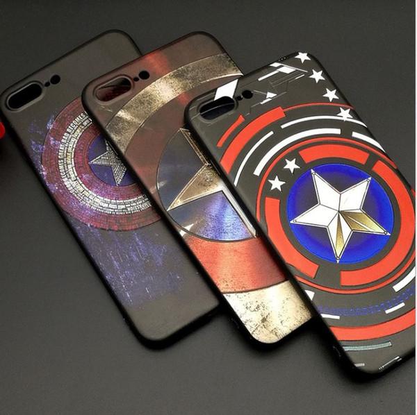 Yeni Marvel Süper HD kabartmalı kılıf iphone X 8 Yumuşak TPU Lüks Silikon Telefon Kılıfları iPhone Için Xs 6 s 7 Artı Vaka