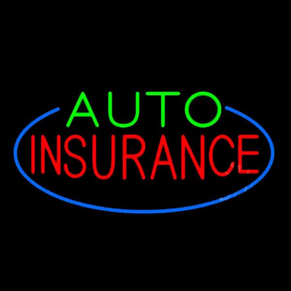 Auto Insurance Cars Vehicles Neon Sign Feitas À Mão Personalizado Real Tubo De Vidro Companhia Publicidade Decoração Display Sinais de Néon 17