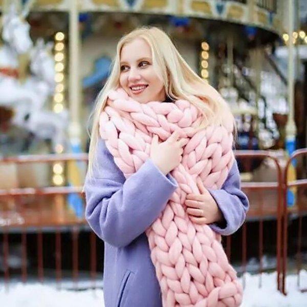 NUOVA Moda Calda Infinity Inverno Sciarpe Chic Chic Chunky Filo Snood Cowl Maglia lavorata a mano Sciarpa Solido Addensare Handmade Wraps Sciarpe