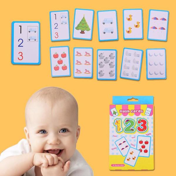Aprendizaje temprano ABC Tarjeta del alfabeto inglés 123 Tarjeta de escritura Alfabetización de niños Juguetes educativos Tarjetas de niños Tarjetas de aprendizaje educativo