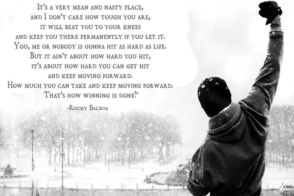 Compre Rocky Balboa Poster Motivational Movie Quotes Póster De La Lona Del Arte Moderno Hd Print Pintura Al óleo Wall Art Painting Picture Poster Para