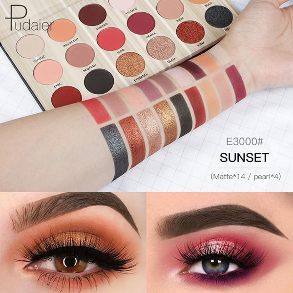 Pudaier Professional 18 Cores Glitter Eyeshadow Moda Matte Maquiagem Paleta Maquillaje Pigmento Maquiagem Set TSLM2