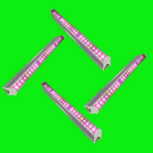 T5 Tube Smd2835 Led Grow Lights For Plants Led Grow Light Tube Phyto Lamp Pot Plant Hydroponics Tube 30 45 60 Cm Clamp Indoor Growing Lights Grow