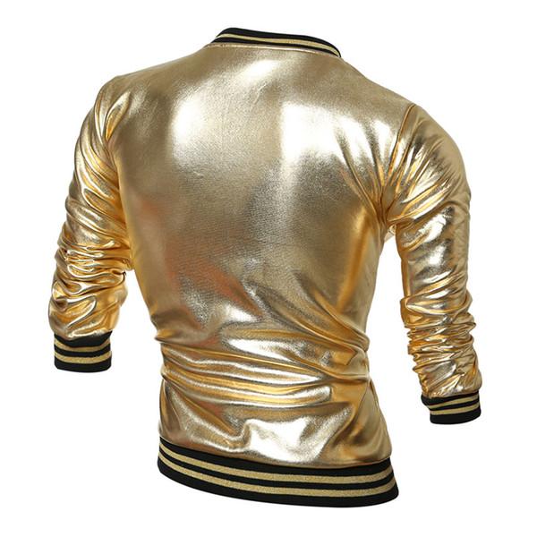 Großhandel Jacke Biker Tops Mode Oberbekleidung Männer Reißverschluss Männlichen Farbe Strickjacke Jacken Qualität Rock Motorrad Kleidung Goldene Hohe 2IDWHEY9