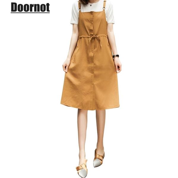 Doornot 5XL 4XL Big Women`s Set Korean Summer Elegant Plus size Tshirt & Spaghetti Strap Dress Drawstring Large Twinset