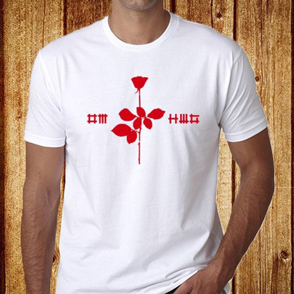 eedc331146 New Depeche Mode  Violator Electronic Rock Band Men s White T-Shirt Size ...