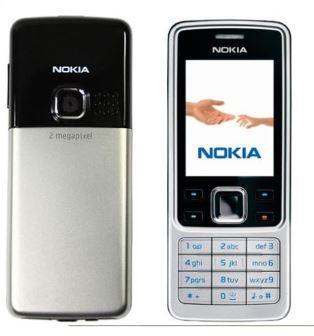 Kilitli orijinal Nokia 6300 classic kamera rusça dil klavye cep telefonları yenilenmiş
