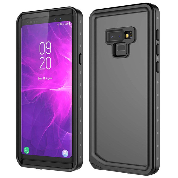 For Samsung Galaxy Note 9 IP68 Waterproof Case Full-Body Protective Shockproof Dustproof Cover Built-in Screen Protector Support Touch ID