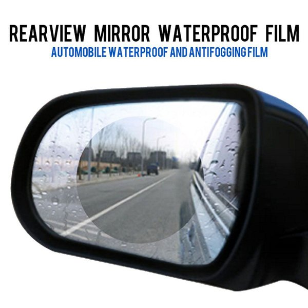 20pcs Rainproof Car Rearview Mirror Film Sticker Anti-fog Protective Film Rain Shield Replacement