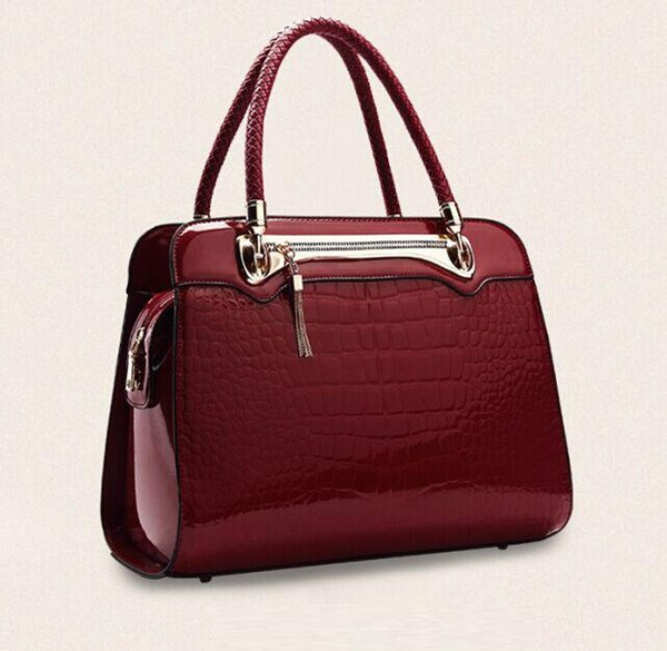 Famous Brands Women Totes PU Handbags Alligator Leather Shoulder Bags Fashion Elegant Simple Ladies Bag OL Package Crossbody Bags