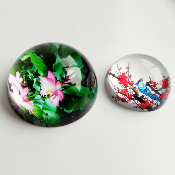 Wholesale custom souvenir Circular cheap glass crystal paperweight for Promotion Gift