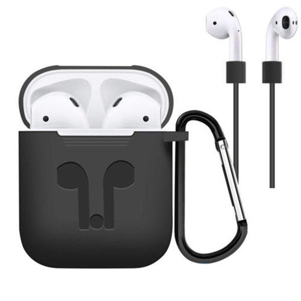 Airpod Case Protective Airpods Cover Bluetooth Wireless Earphone High Quality Silicone Case Waterproof Anti-drop Strap Accessories
