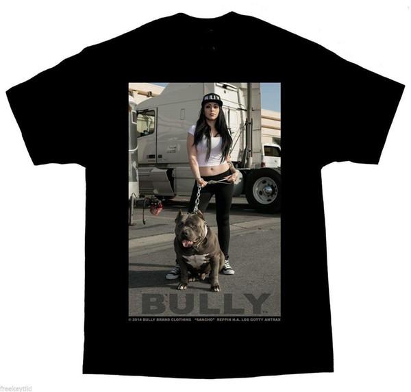 Compre Dga Bully Sancho Pitbull Pit Bull Perro Cholo Gangster Lowrider Homies Camiseta Verano Novedad Dibujos Animados A 1553 Del Liguo004