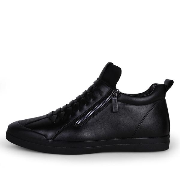 Erkekler Kış Sıcak Yüksek Top Rahat Düz Ayakkabı Erkek Moda Peluş Kar Botları Ayak Bileği Çizmeler erkek Ayakkabı 18D50