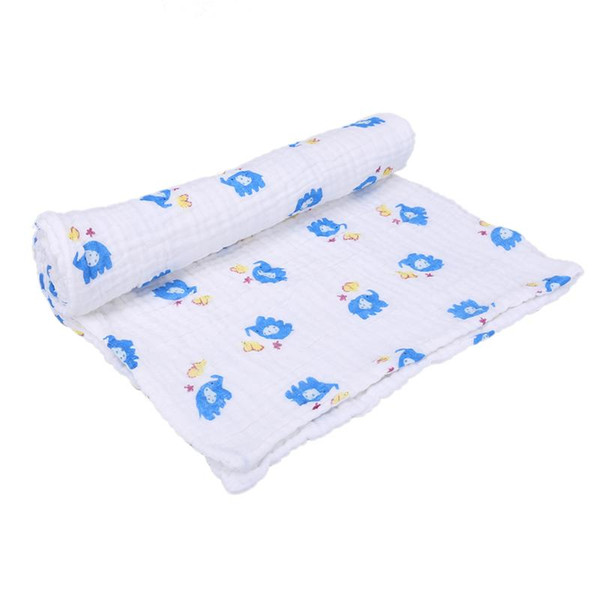 Newborn Infant Bathing Towel Cotton Gauze 6-layer Cartoon Blanket Ultra Soft Strong Water Absorption Baby Care Accessories