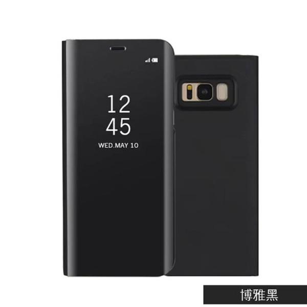 Custodia Smart Cover a specchio trasparente per Samsung Galaxy S9 S8 Plus Custodia a conchiglia in plastica trasparente con rivestimento in plastica S7