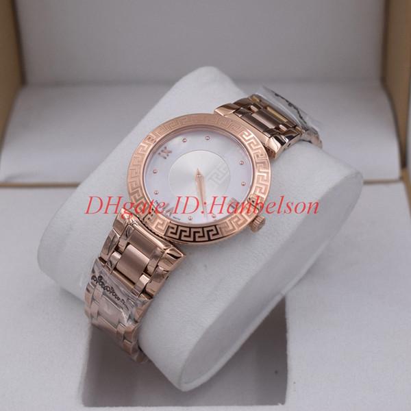Moda di lusso V E Ladies Watch serie DAPHNIS tutto in acciaio inossidabile qualità movimento al quarzo svizzero Contratto a due aghi da polso