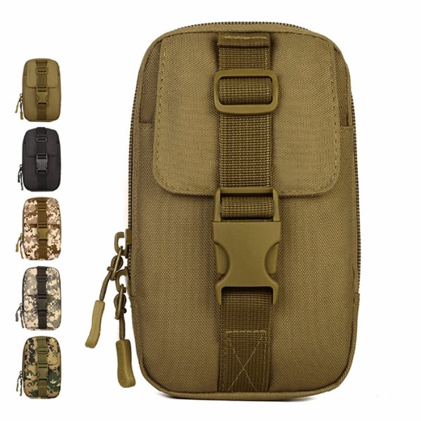 High Quality Nylon Military Waist Pack Men Travel Molle Tool Small Bag Hip Belt Cell/Mobile Phone Case Hook Fanny Purse Pouch