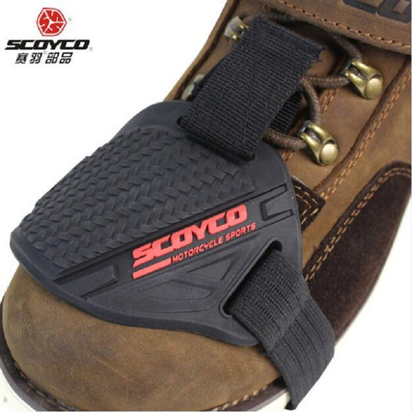 2018 New SCOYCO Motocross Motorcycle Boots shoes Shift Pad Motor Racing Cycling Motorbike Protective Gear Riding Shoe boot Brake Cover
