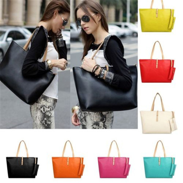5a854fb3a24 New And Fashion Classic Casual Womens Bags Ladies Fashion Tote Bag Faux  Leather Designer Shoulder Handbag