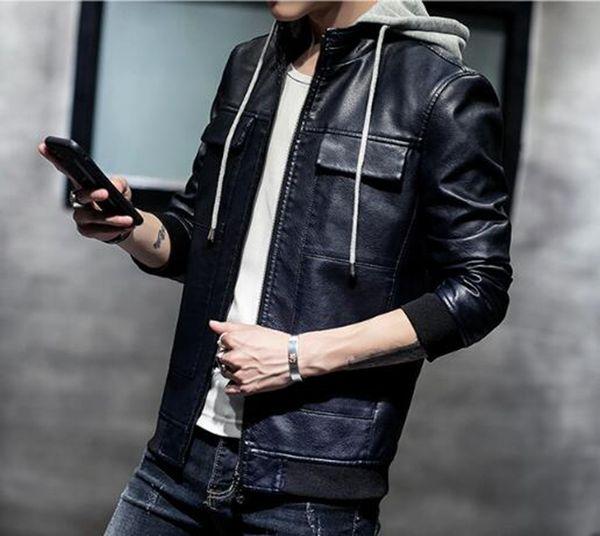 Moda masculina de otoño e invierno Nueva boutique de moda europea y americana coreana con gorra joven de locomotora / M-4XL