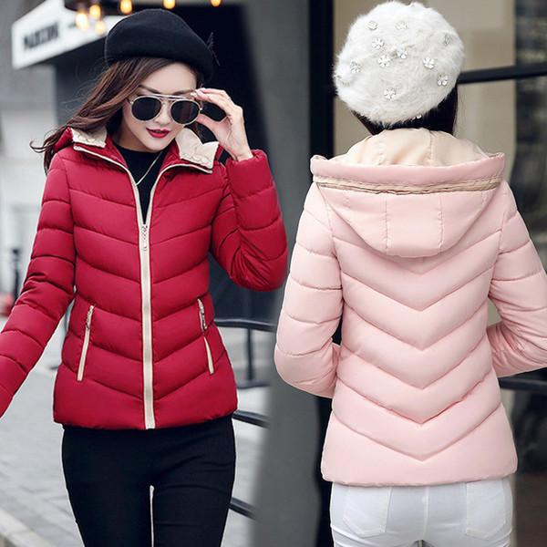 Mäntel Von Großhandel Baumwolle Frauen Wintermantel Gepolsterte 2018 Kleine Und Unten Weiblicher Jacken Jacke Kleidung Weibliche Kurze vN8w0mnO