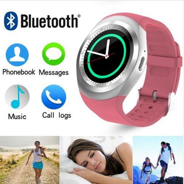Y1 Montre Smart Watch Nano Carte SIM et Carte TF Smartwatch PK GT08 Q18 KW18 Portable Electronics Stock Pour iOS Android