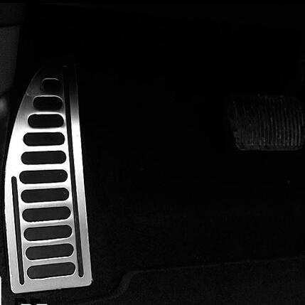 Repose-pieds en acier inoxydable Repose-pieds Repose-pieds Couvre-pédale Fit For Focus 2 Mise au point 3 Fiesta Kuga Mondeo S-MAX, Style de voiture