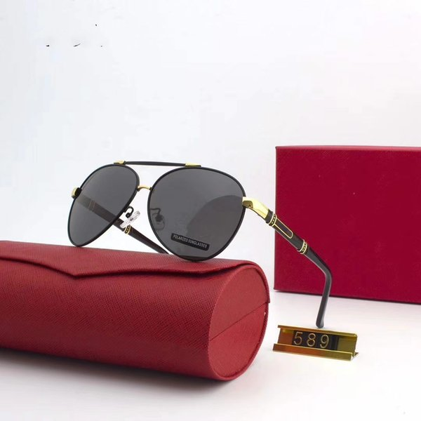 Высокое качество импортных материалов поляризованных европейский бренд солнцезащитные очки Мода дизайнер очки открытый путешествия очки с коробкой