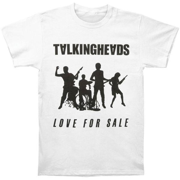 Talking Heads Men's Love For Sale Vintage T-shirt White Print Tees Short Sleeve O-Neck T shirt Short Sleeve Tops