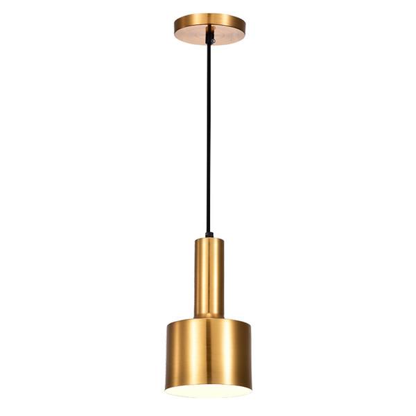 sports shoes 8b6da 9822c Nordic Gold Bronze Pendant Light Postmodern Minimalist Restaurant Pendant  Lamps Antique Metal Bedroom Bedside Hanging Lamp Lighting Hanging Lights ...