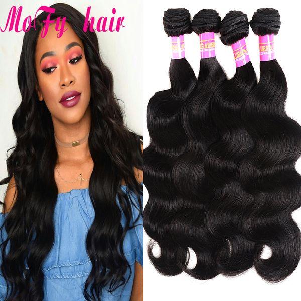 Peruvian Body Wave Bundles 100% Human Hair Bundles 3 or 4Pcs Non Remy Hair Extensions Natural Black Hair Weave Cheap Peruvian Body Wave