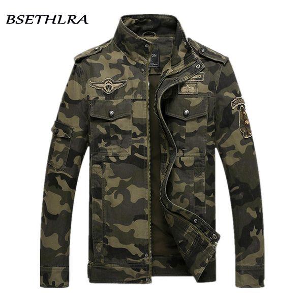 BSETHLRA 2018 Chaqueta de camuflaje Hombres Ejército de Otoño Outwear Militar Jaqueta masculino Abrigos a prueba de viento Moda Chaquetas Hombre Homme S18101804