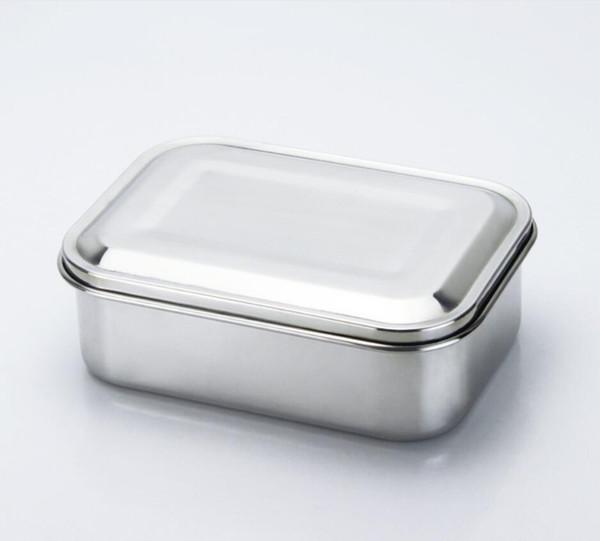 Contenitore in acciaio inox da 800 ml per alimenti in acciaio inossidabile, scatola da pranzo in acciaio inox per panini, involtini, insalate