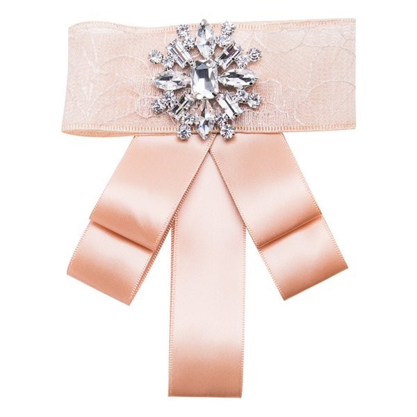 New Cute Sweet Exaggerated Crystal Snowflake Bow Ties Female Fashion Fabric Ribbon Bowties for Women Tie Party Wedding Duftgold