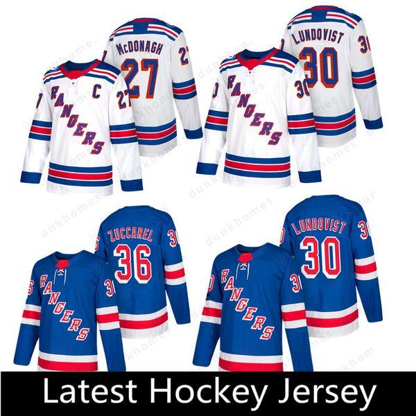 New York Rangers 30 de Henrik Lundqvist 22 de Kevin Shattenkirk 41 de Alexei Bereglazov 44 de Neal Pionk 50 de Lias Andersson Hockey Jerseys