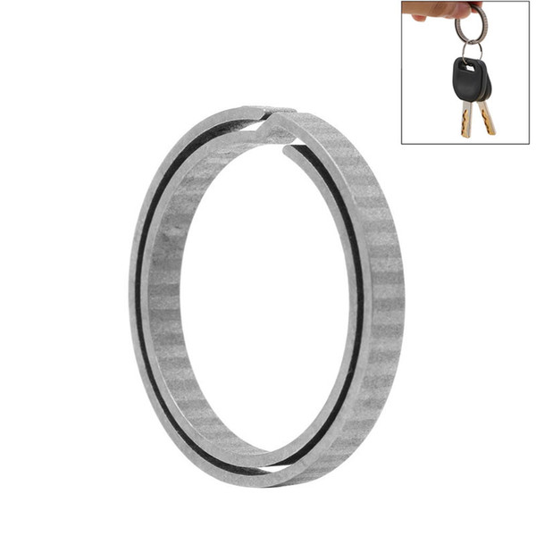 Lightweight Titanium Alloy Hanging Buckle Key Ring Quickdraw Keychain Tool New Key Ring