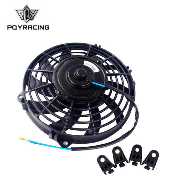 """best selling PQY - 9 Inch Universal 12V 80W Slim Reversible Electric Radiator AUTO FAN Push Pull With mounting kit Type S 9"""" PQY-FAN9"""