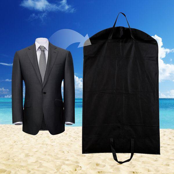 1pc Black Dustproof Hanger Coat Clothes Garment Suit Cover Storage Bags,clothes storage,almacenamiento,Case for clothes E5M1