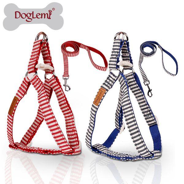 Dog Leash Harness Durable Leash Set & Heavy Duty Denim Dog Leash Collar for Small, Medium and Large Dog Daily Training Walking Running