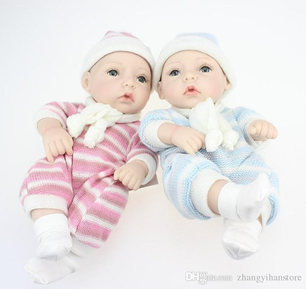 28 cm mini new silicone reborn baby doll brinquedos lifelike artesanal baby dolls bebê em casa boneca bebês presentes play house