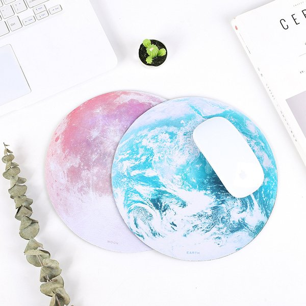 Planet Design Mouse Pad Fashion Round Game Mouse Pads Soft Light Anti Skidding Mix Color Christmas Gift