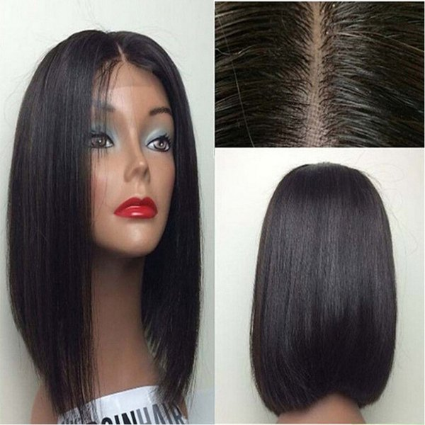 Black Bob Wigs Synthetic Lace Front Wig Short Hair Wigs For Women Cheap Black Wigs Heat Resistant Cosplay Lace Front Synthetic Hair