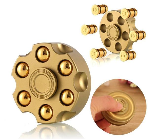 best selling Round Revolver Bullet Fidget Brass Fidget Spinner Fingertip Gyro EDC Brass Hand Spinner Desk Detachable Autism ADHD Stress Relief Toys